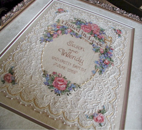 cross stitch wedding sampler get domain pictures