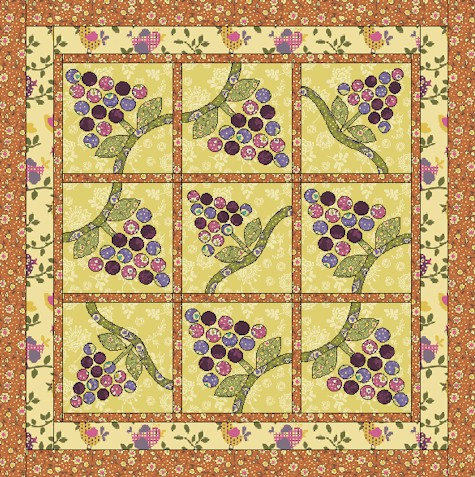 Fruit Of The Vine in THE QUILTER (October/November 2010) « Ivory ...
