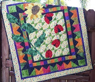 Anita's Ladybug Quilt – Ivory Spring : lady bug quilts - Adamdwight.com