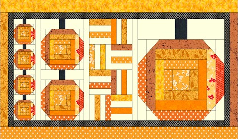 Pumpkin Patch Table Runner In House Of White Birches Log