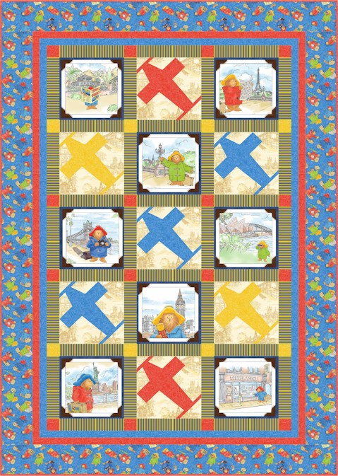 FREE PATTERN: Paddington's Travels – Ivory Spring : paddington bear quilt - Adamdwight.com