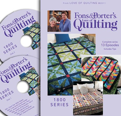Fons & Porter Love of Quilting TV Shows Series 1800 – Ivory Spring : love of quilting tv show - Adamdwight.com