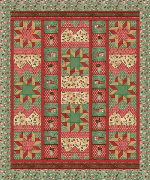 Quilt Patterns For Homespun Fabric : FREE PATTERN: Homespun Holidays Throw and Pillows Ivory Spring