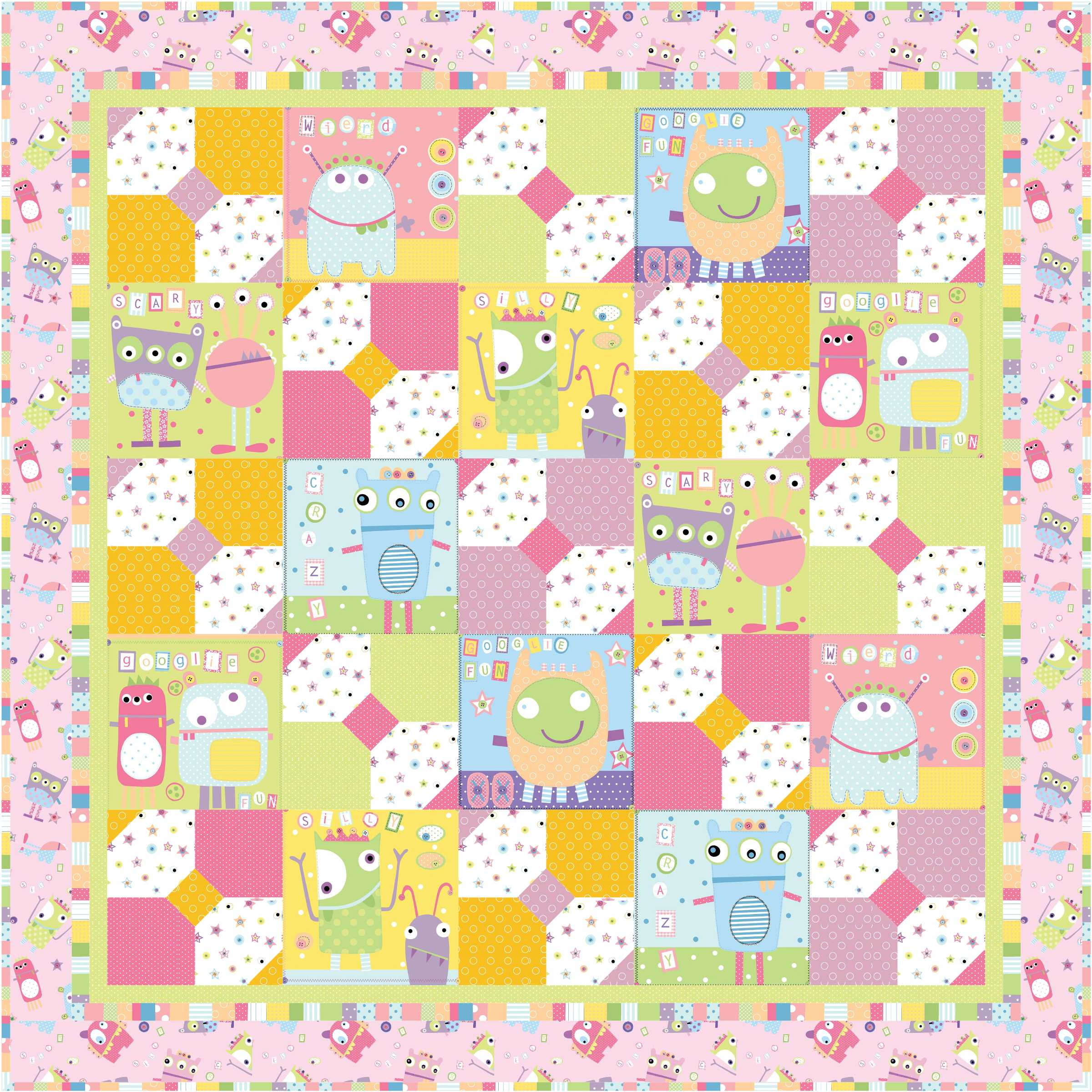 Free Pattern Sweet Dreams For Little Monsters Ivory Spring