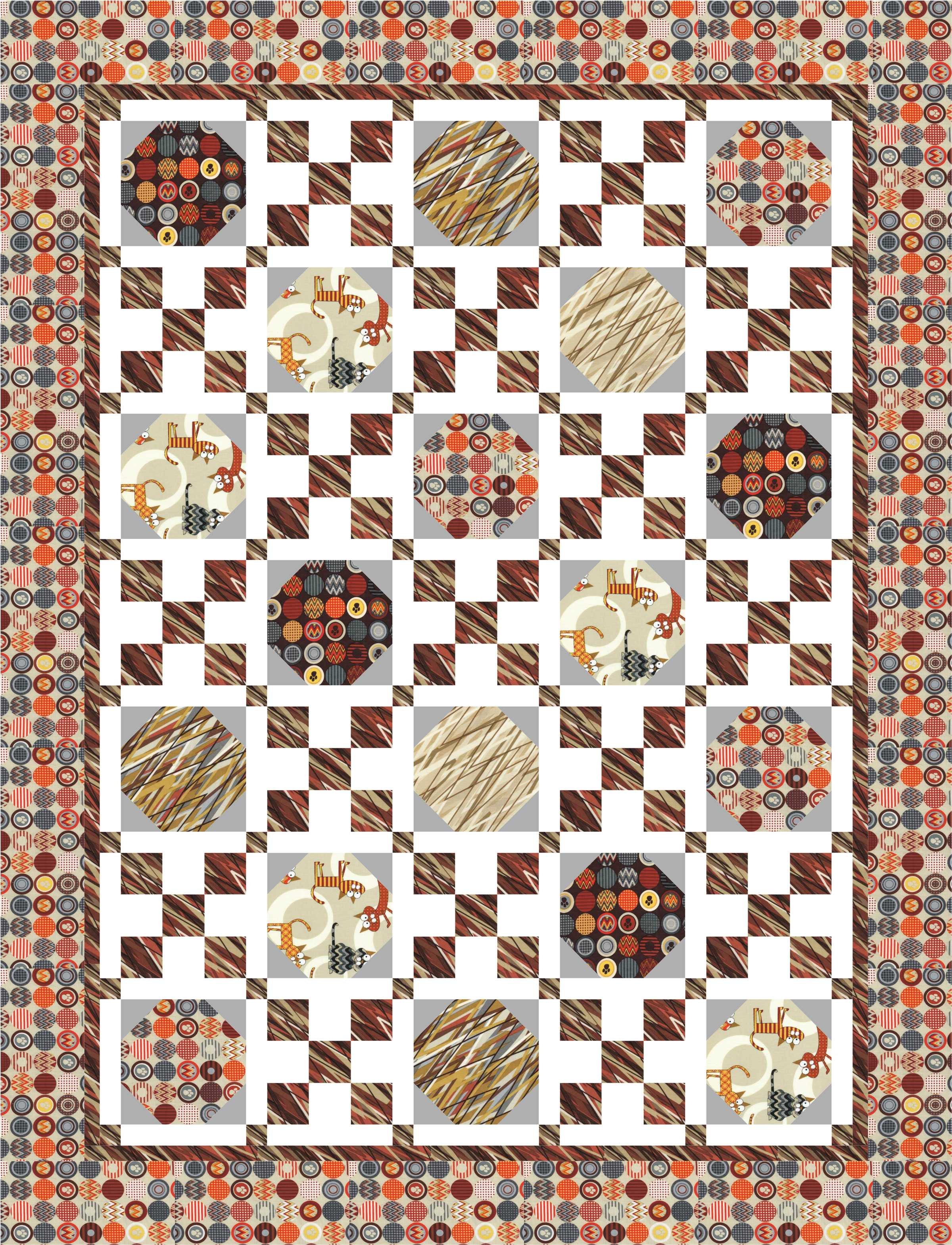 Curious Cats in Fons and Porter's EASY QUILTS (Summer 2013 ... : fons and porter quilt patterns - Adamdwight.com