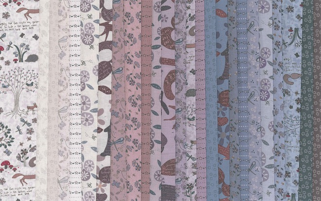 Wildflower Wood fabrics
