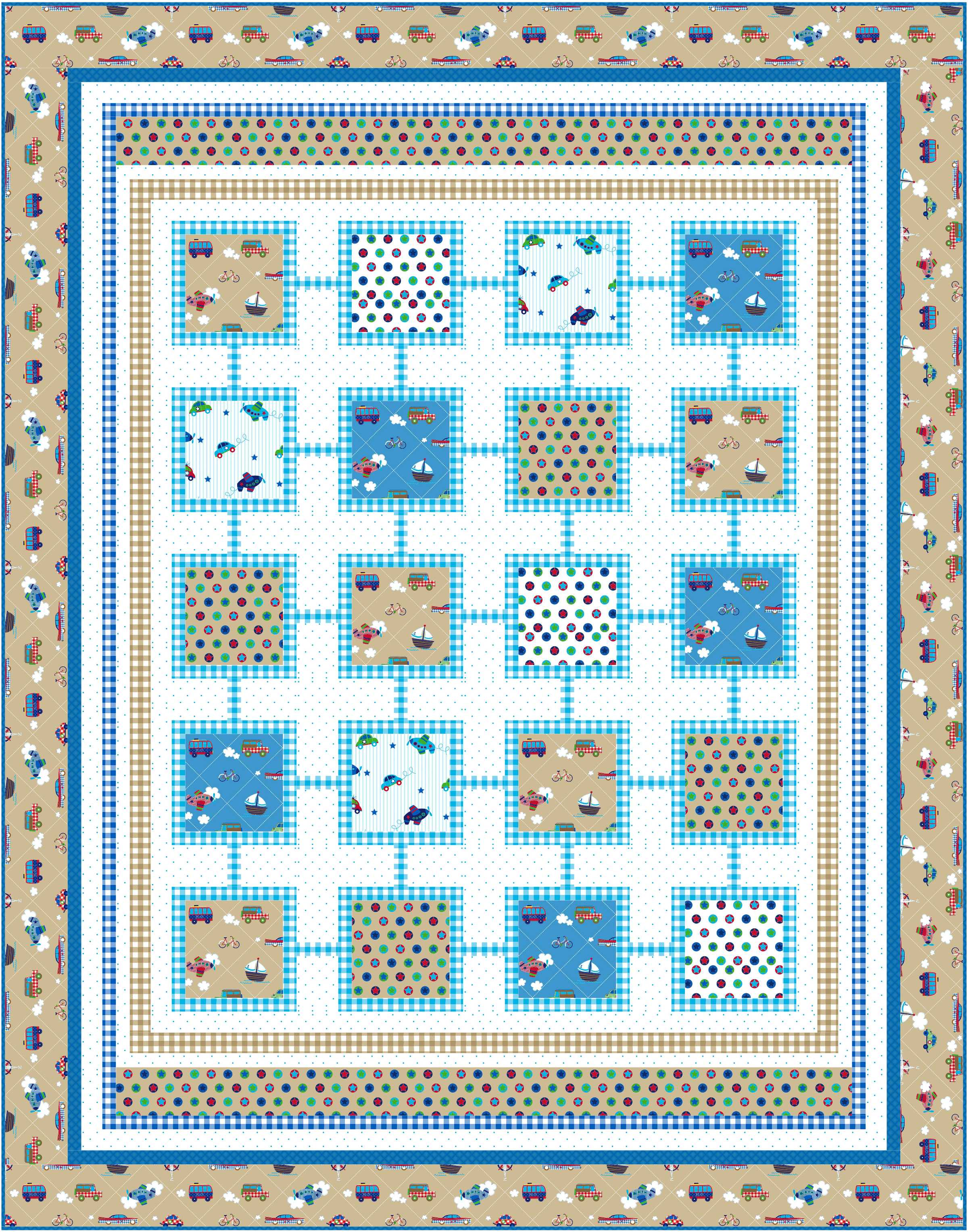 Free pattern simply sweet for boys and girls ivory spring for Boy quilt fabric