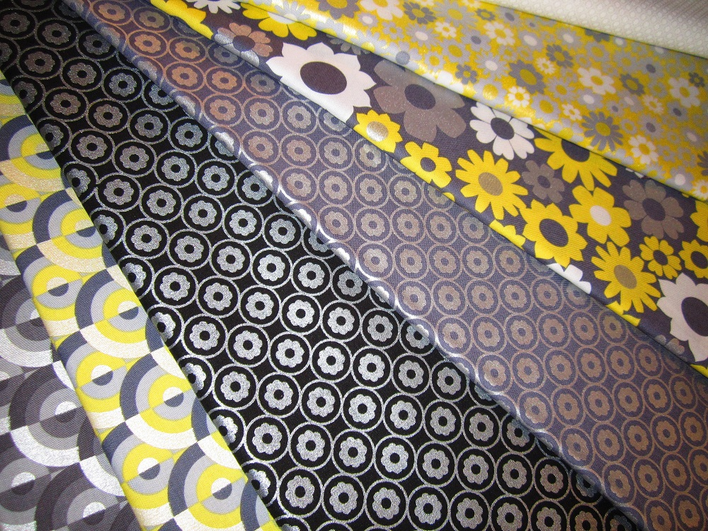 fabric preview black gray yellow ivory spring. Black Bedroom Furniture Sets. Home Design Ideas