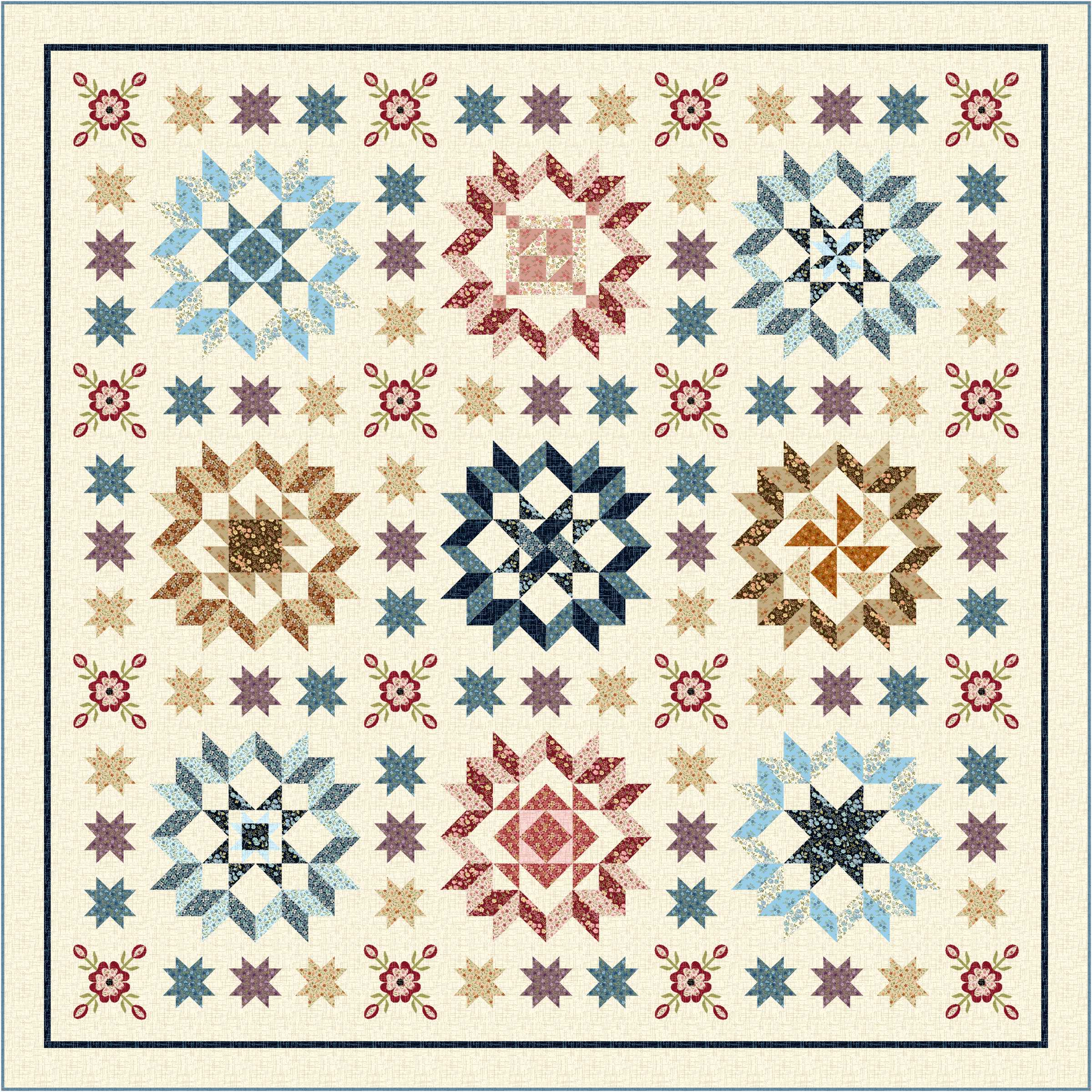 Home Treasures Quilting Patterns : Plain & Fancy Block-of-the-Month (BOM) have you signed up? Ivory Spring