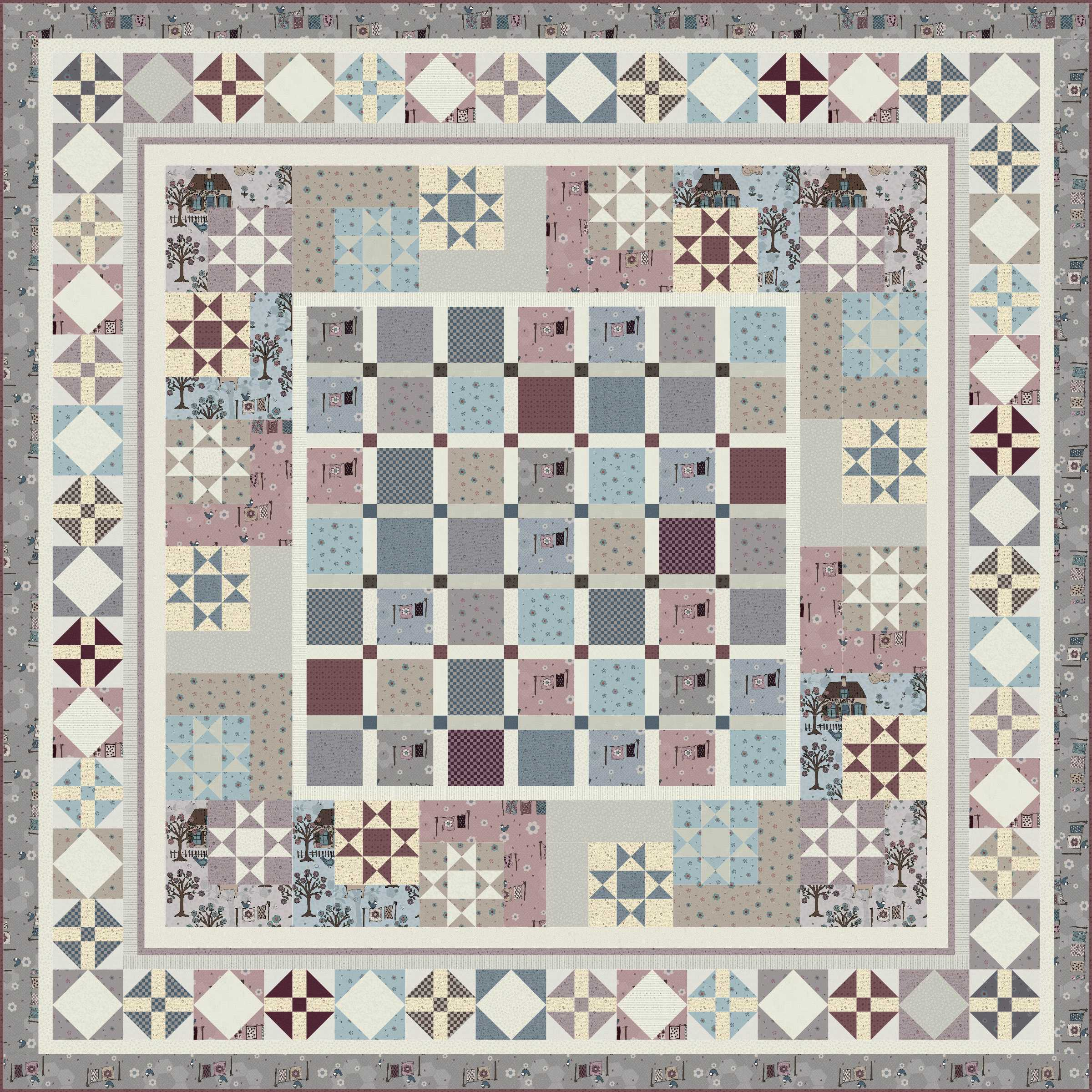 Good Without Further Ado, Towne Square Is The Free To Use Design I Designed For  Lynette Using The Quilters Garden Fabrics.