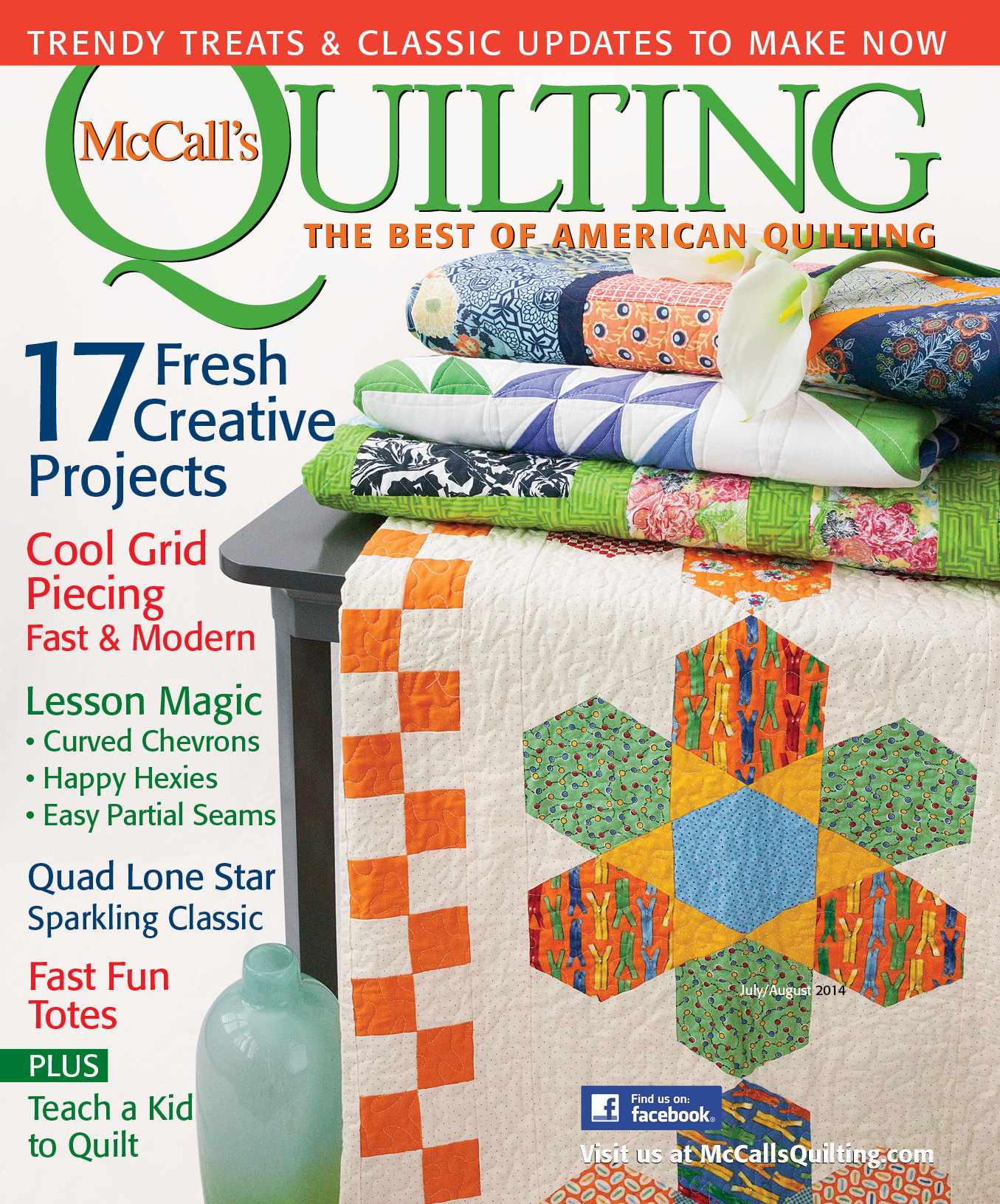 Bird Watching in McCALL'S QUILTING (July/August 2014) & Giveaway!