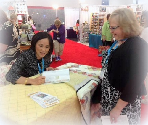 Book signing, Houston Fall Quilt Market, 2014