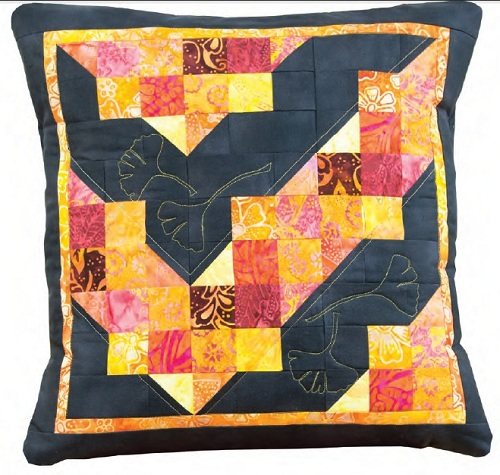 Ginkgos on Prince Street Pillow, Recreating Antiques Quilts