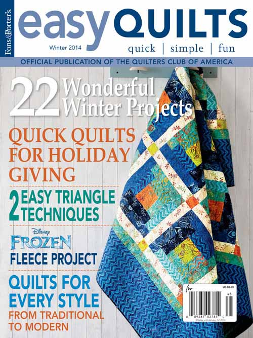 Hoppity Hop in FONS AND PORTER'S EASY QUILTS (Winter 2014)