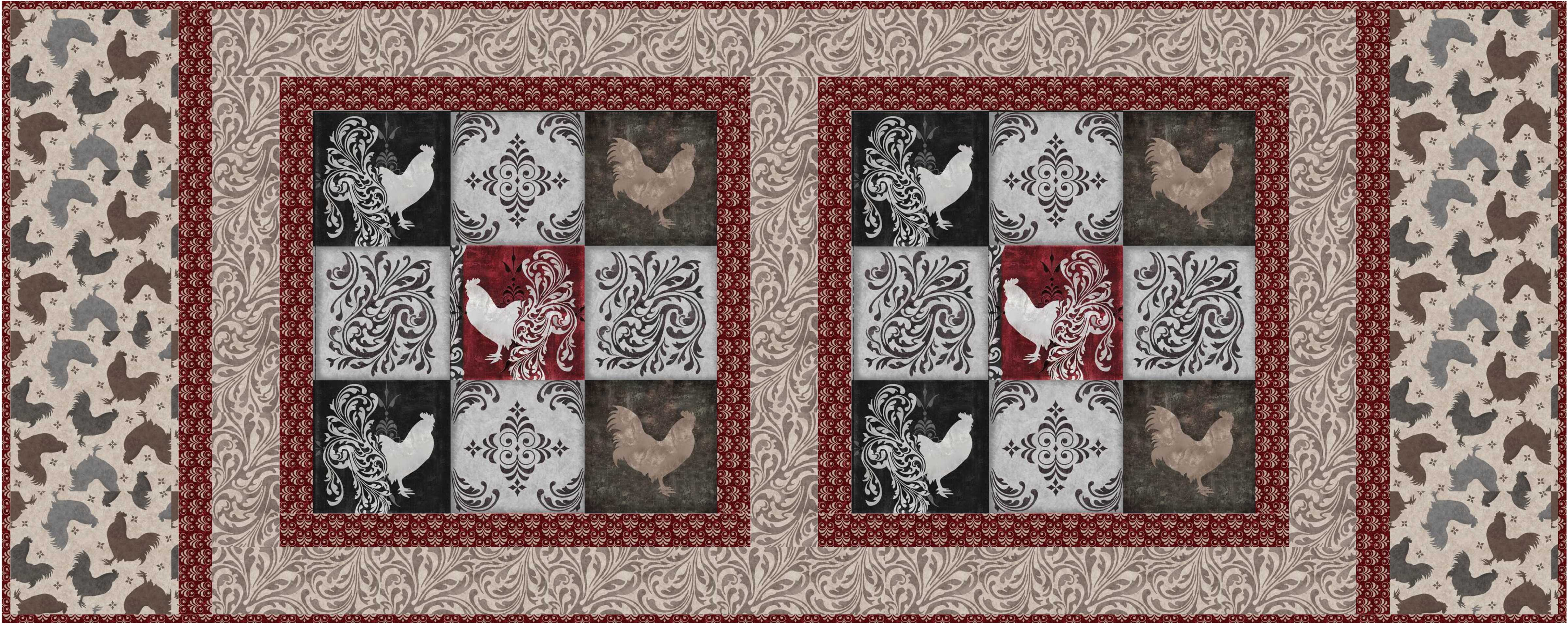 Free Pattern Bonjour Table Runner And Throw Quilt Ivory Spring