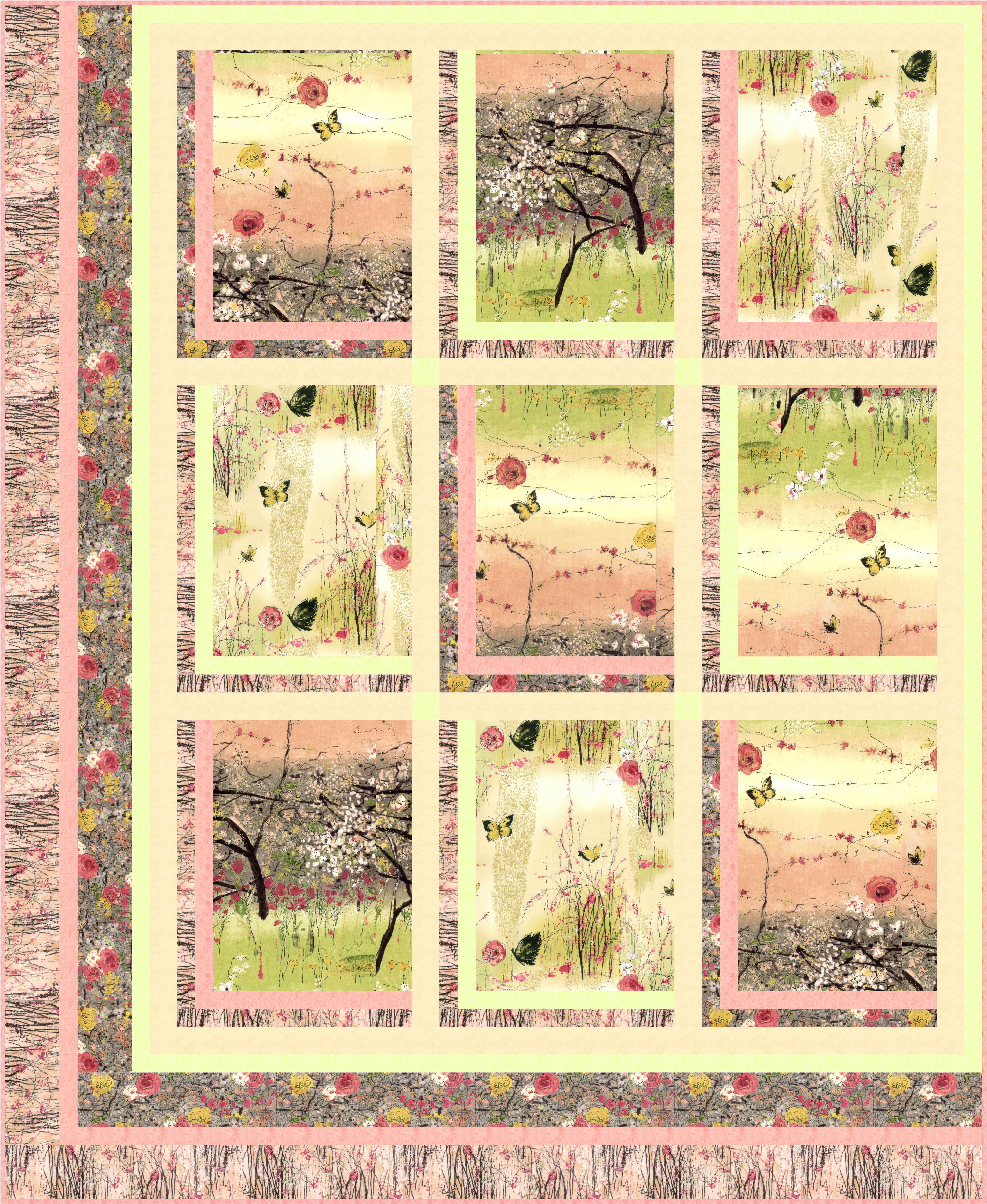 Free Quilting Patterns For Spring : FREE PATTERN: Dream Blossom Ivory Spring