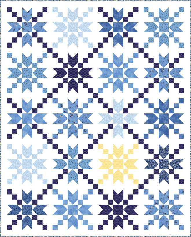 Free pattern star dust ivory spring for Star design fabric