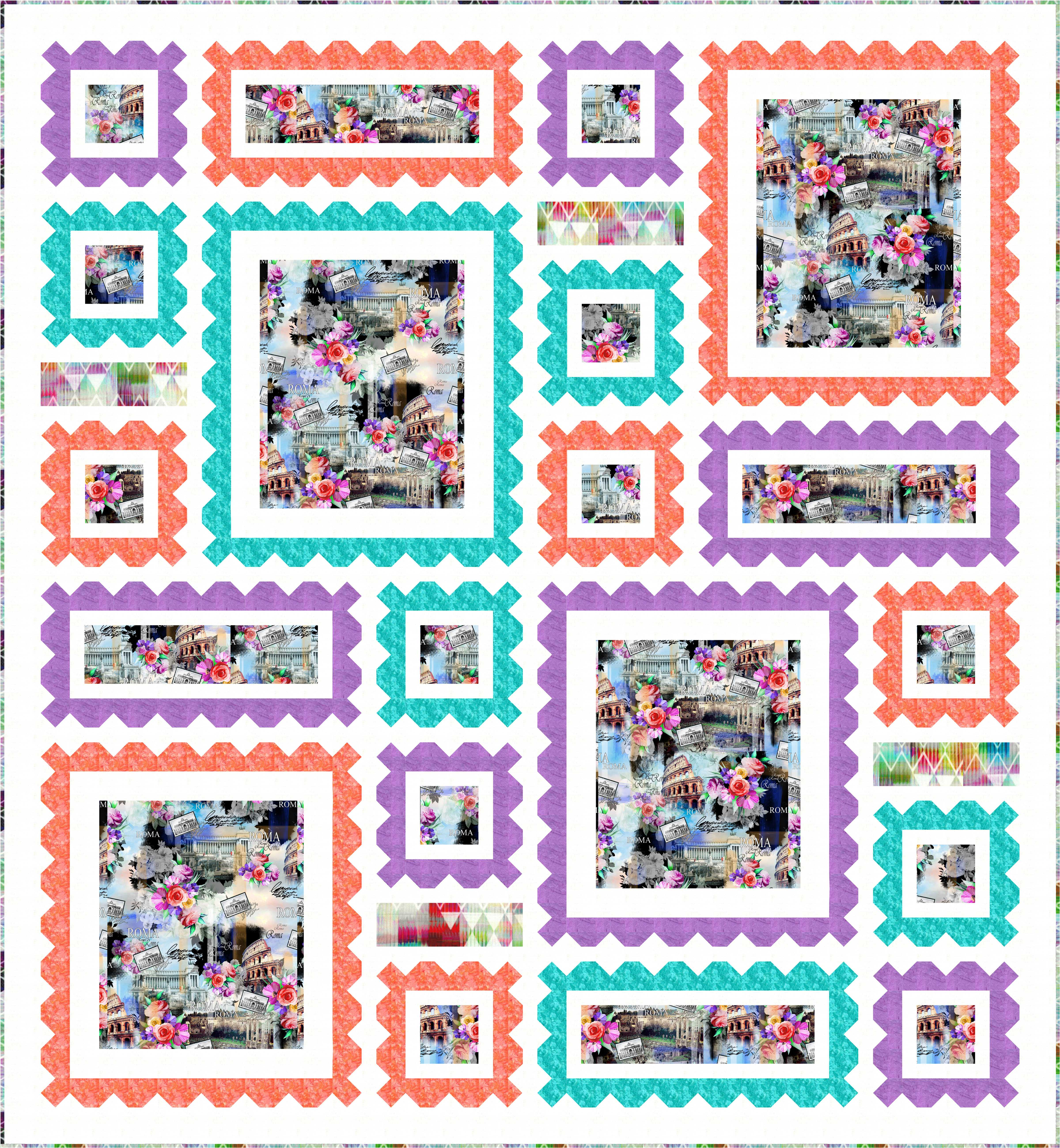 FREE PATTERN: Wish You Were Here – Ivory Spring : hoffman free quilt patterns - Adamdwight.com
