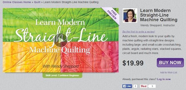 Straight Line Machine Quilting