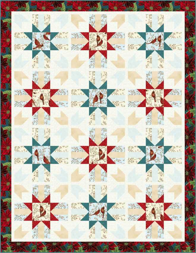 FREE PATTERN: Hoffman Fabrics' Good Tidings / Christmas in July ... : hoffman free quilt patterns - Adamdwight.com